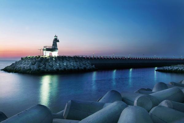 梨湖海水浴场的灯塔&nbsp